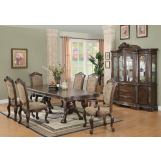 Coaster Andrea 7pc Dining Set in Brown Cherry 103111S