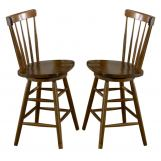 Liberty Furniture Creations II 24 Inch Copenhagen Barstool in Tobacco Finish 38-B1724 (Set of 2)