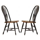 Liberty Furniture Low Country Windsor Back Side Chair in Anchor Black with Suntan Bronze Finish 80-C1000S (Set of 2) EST SHIP TIME IS 4 WEEKS