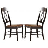 Liberty Furniture Low Country Napoleon Back Side Chair (RTA) in Anchor Black with Suntan Bronze Finish 80-C5500S (Set of 2) EST SHIP TIME IS 4 WEEKS