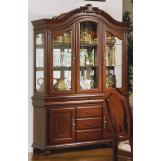 Acme Classique Hutch and Buffet in Brown Cherry 11835