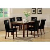 Coaster Telegraph 7pc Dining Set in Cherry 120310S