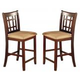 Coaster Lavon Counter Height Stool in Dark Cherry (Set of 2) 100889N