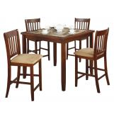 Coaster 5pc Counter Height Dining Set in Cherry 150154