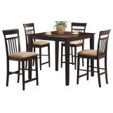 Coaster Morelanda 5pc Counter Height Dining Set in Cappuccino 150041