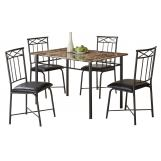 Coaster 5pc Dining Set in Black 150115