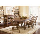 Liberty Furniture Farmhouse 7pc Casual Dining Room in Weathered Oak Finish 139-CD