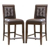 American Drew Tribecca Leather Barstools (Set of 2)