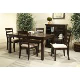 Intercon Furniture Lifestyle 6-Piece Dining Set in Rich Madeira