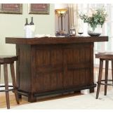 ECI Furniture Gettysburg Bar in Dark Distressed 1475-05-BTB