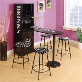 Acme Furniture Mant 5pc Counter Height Set in Black
