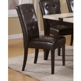 Acme Britney Bycast Dining Side Chairs in Espresso 16774 (Set of 2)