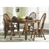 Liberty Furniture Treasures 5pc Casual Dining Room in Rustic Oak Finish 17-CD