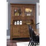 Liberty Furniture Treasures Complete China in Rustic Oak Finish EST SHIP TIME IS 4 WEEKS