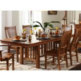 A-America Laurelhurst Trestle Dining Table in Mission Oak LAUOA6320 CODE:UNIV20 for 20% Off
