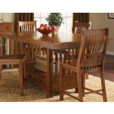 A-America Laurelhurst Gathering Height Dining Table in Mission Oak LAUOA6720 CODE:UNIV20 for 20% Off