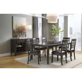 A-America Bristol Point 7pc Butterfly Leg Dining Set in Warm Gray CODE:UNIV20 for 20% Off