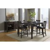 A-America Bristol Point 5pc Butterfly Gathering Height Dining Set in Warm Gray CODE:UNIV20 for 20% Off