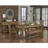 Vaughan-Bassett Simply Dining 5-Piece Kitchen Table Set w/ Wooden Top in Natural Maple