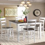 Intercon Furniture Kona 5pc Counter Height Dining Room Set in Gray & White