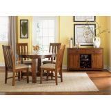 Liberty Furniture Urban Mission 5pc Casual Dining Room in Dark Mission Oak Finish 27-CD