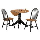 Acme Mason 3 PC Pack Dining Set in Oak and Black 00878 EST SHIP TIME IS 4 WEEKS