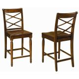 Aspenhome Cambridge Double X Counter Height Side Chair in Brown Cherry ICB-6671S (Set of 2)