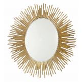 Bernhardt Salon Sunburst Oval Mirror in Antique Gold 341-333