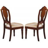 Acme Classique Dining Side Chairs in Brown Cherry 11833 (Set of 2)