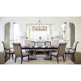 Bernhardt Miramont 7-Piece Extendable Double Pedestal Dining Room Set in Dark Sable