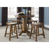 Liberty Furniture Creations II 5pc Pub Table Set in Tobacco Finish 38-PUB