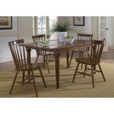 Liberty Furniture Creations II 5pc Butterfly Leaf Table Set in Tobacco Finish 38-T3