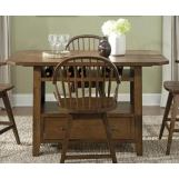 Liberty Furniture Hearthstone Center Island Table in Rustic Oak 382-GT3660TB