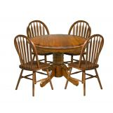 Intercon Furniture Classic Oak 8-Piece Drop Leaf Dining Set w/ Buffet in Burnished Rustic