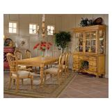 Hillsdale Wilshire 7 Piece Rectangular Dining Set in Antique Pine