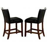 Coaster Telegraph Counter Height Stool in Black (Set of 2) 100357