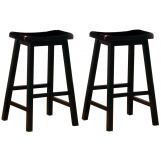 "Coaster 29"" Wooden Bar Stool in Black (Set of 2) 180029"
