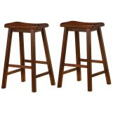"Coaster 29"" Wooden Bar Stool in Dark Walnut (Set of 2) 180079"