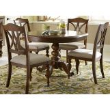 Liberty Furniture Summer House 5pc Round Pedestal Dining Set in Cherry