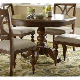Liberty Furniture Summer House Round Pedestal Table in Cherry 507-4254