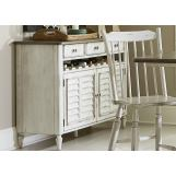 Liberty Furniture Oak Hill Server in Tan Smoke/White 517-SR5036