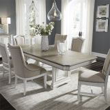 Liberty Furniture Abbey Park 7-Piece Trestle Dining Table Set in Antique White