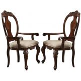 Acme Frederick Dining Arm Chair (Set of 2) in Cherry 60364