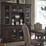 Liberty Furniture Lucca Hutch & Buffet in Cordovan Brown 535-DR-HB EST SHIP TIME IS 4 WEEKS