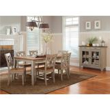 Liberty Furniture Al Fresco 7 Piece Rectangular Dining Set in Driftwood/Taupe