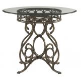 "Tommy Bahama Home Landara Capistrano 36"" Metal Dining Table in Rich Tobacco"
