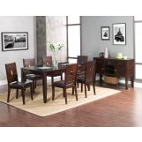 Alpine Furniture Lakeport 5-Piece Extension Dining Room Set in Espresso