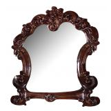Acme Vendome Landscape Mirror with Intricate Details in Cherry 22004 PROMO