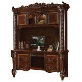 Acme Vendome Bookcase with Intricate Carving Design in Cherry 92128