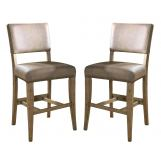 Hillsdale Charleston Non-Swivel Parson Counter Stool in Desert Tan (Set of 2) 4670-824